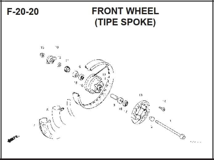 F-20-20 Front Wheel (Tipe Spoke)