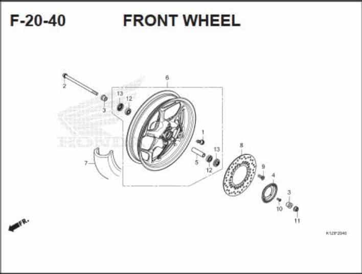 F-20-40- Front Wheel