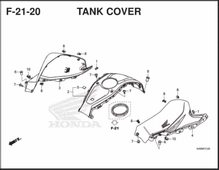 F-21-20 Tank Cover