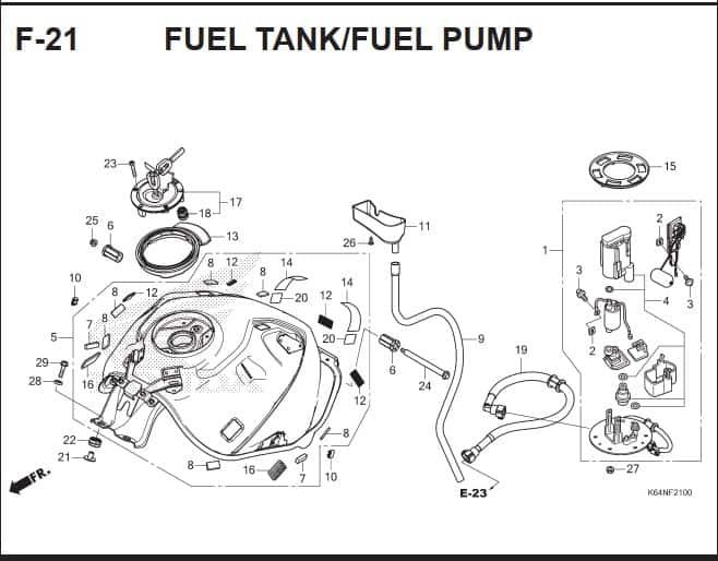 F-21 Fuel Tank Fuel Pump