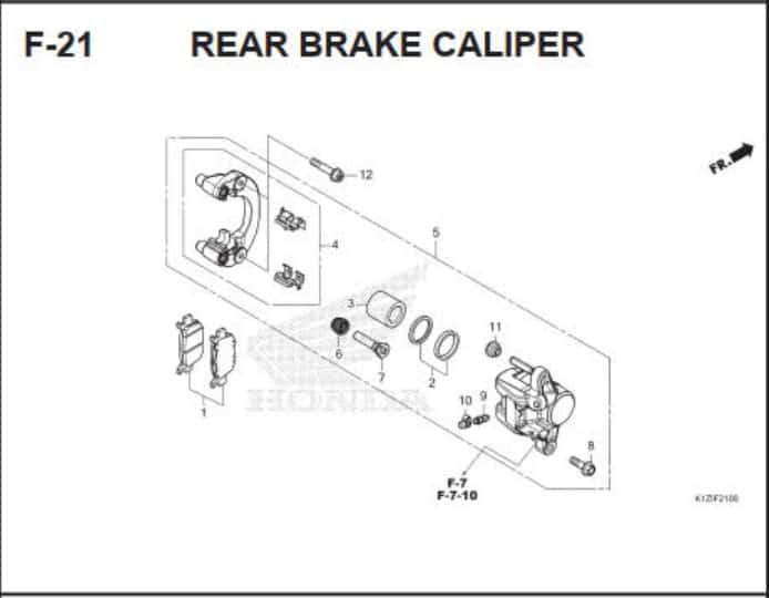 F-21 Rear Brake Caliper