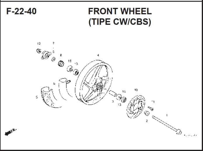 F-20-40 Front Wheel (Tipe CW/CBS) – Katalog Suku Cadang Honda BeAT FI K25A