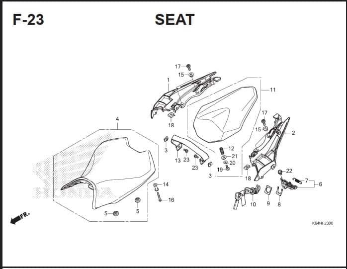 F-23 Seat