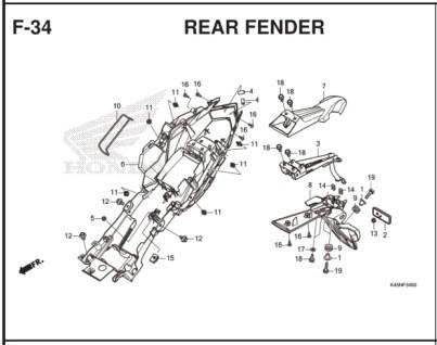 F-34 Rear Fender
