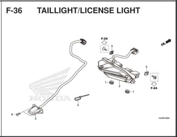 F-36 Tailight License Light