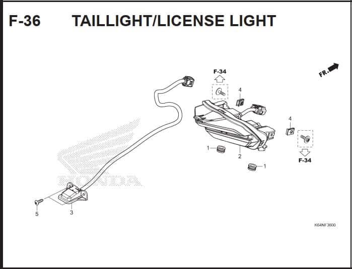 F-36 Taillight License Light