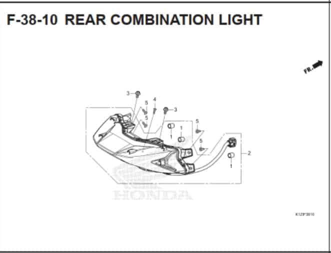 F-38-10 Rear Combination Light
