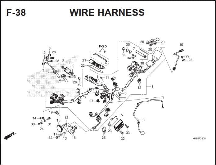 F-38 Wire Harness
