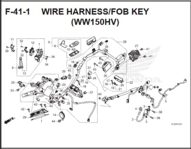 F-41-1 Wire Harness FOB Key (WW150HV)