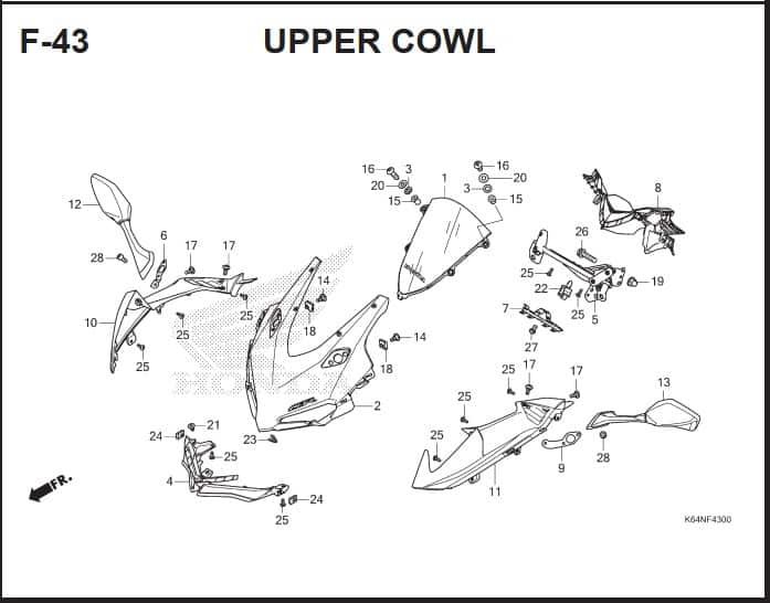 F-43 Upper Cowl