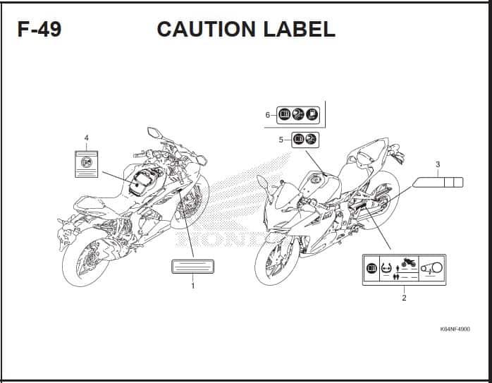 F-49 Caution Label