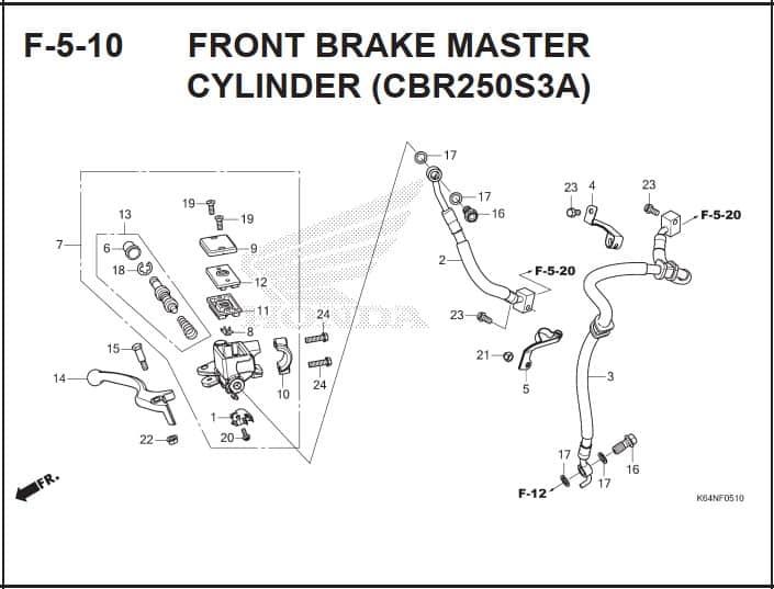F-5-10 Front Brake Master Cylinder (CBR250S3A)