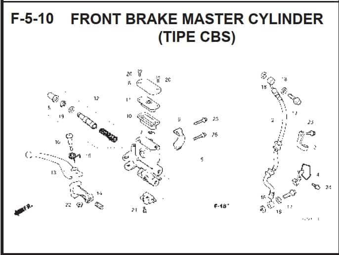 F-5-10 Front Brake Master Cylinder (Tipe CBS)