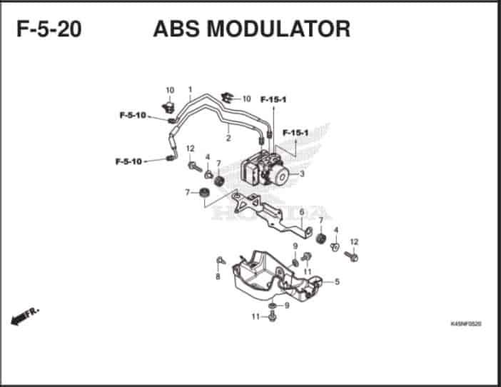F-5-20 ABS Modulator – Katalog Suku Cadang Honda New CBR 150R K45R