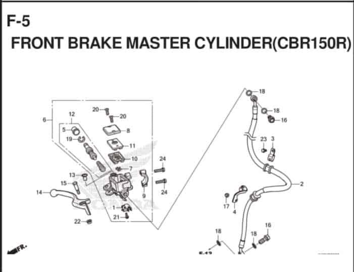 F-5 Front Brake Master Cylinder (CBR150R)