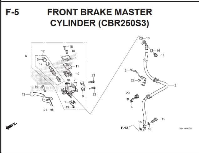 F-5 Front Brake Master Cylinder (CBR250S3)