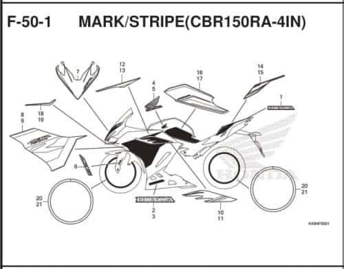 F-50-1 Mark Stripe (CBR150RA-4IN)