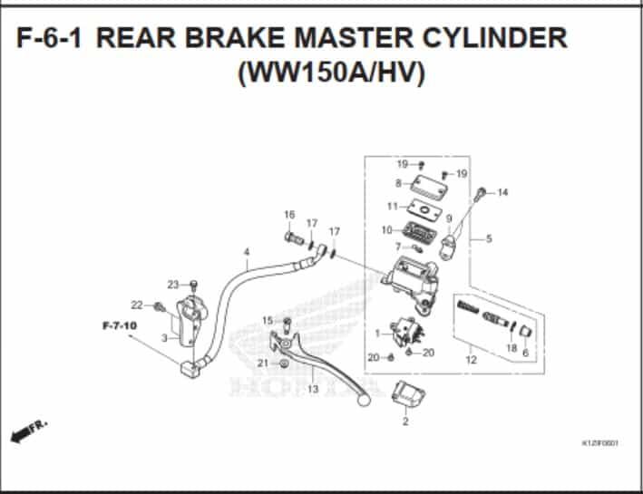 F-6-1- Rear Brake Master Cylinder (WW150AHV)