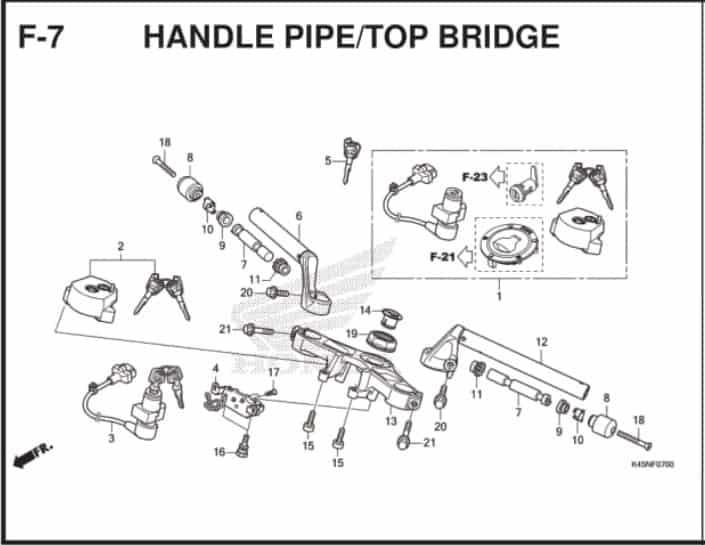 F-7 Handle Pipe Top Bridge