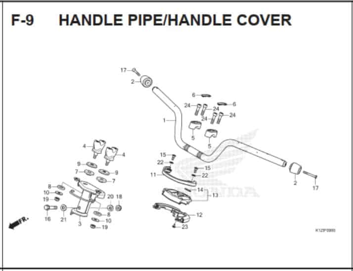 F-9 Handle Pipe Handle Cover