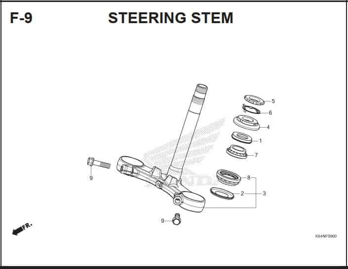 F-9 Steering Stem