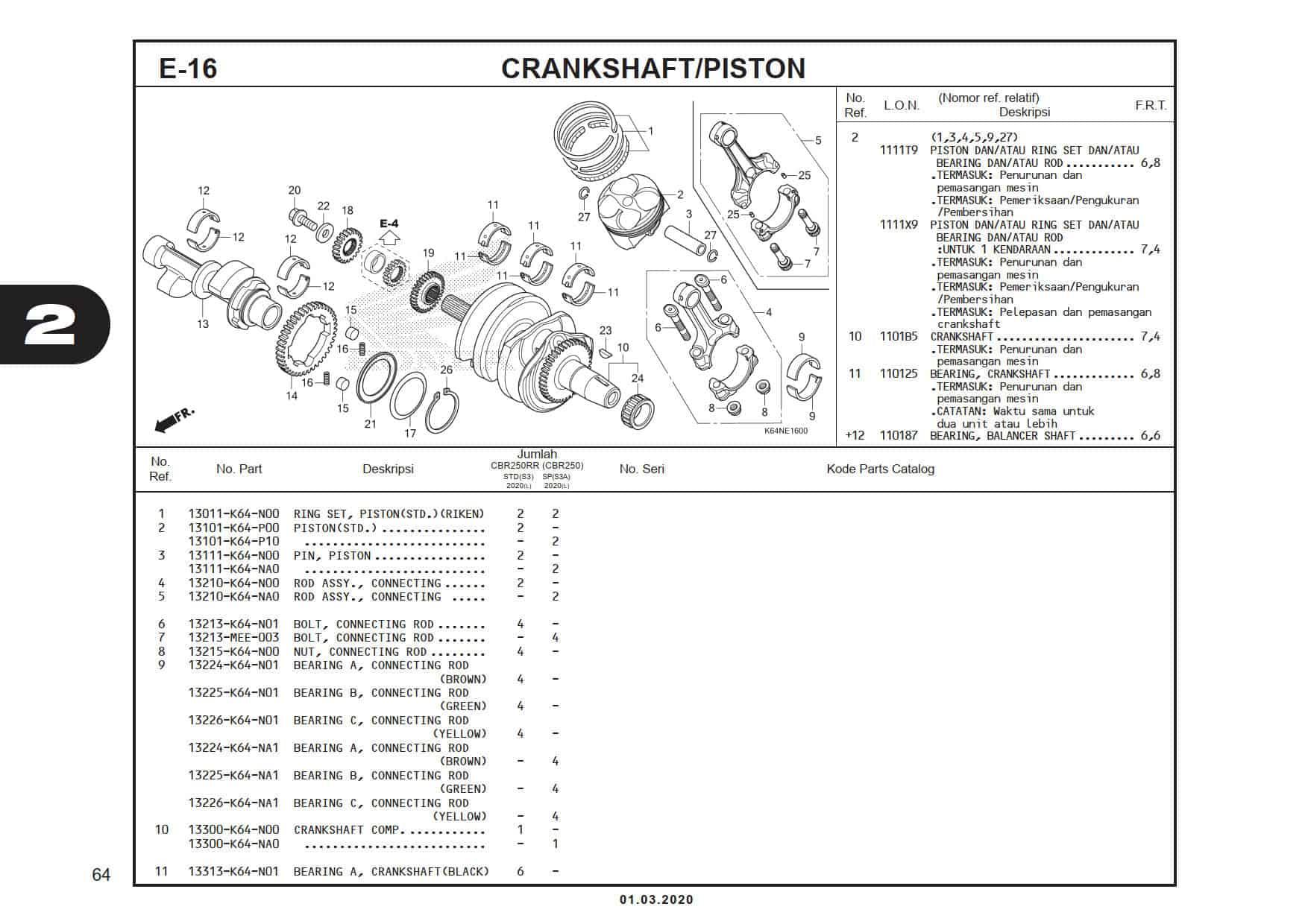 E-16 CrankShaft/Piston
