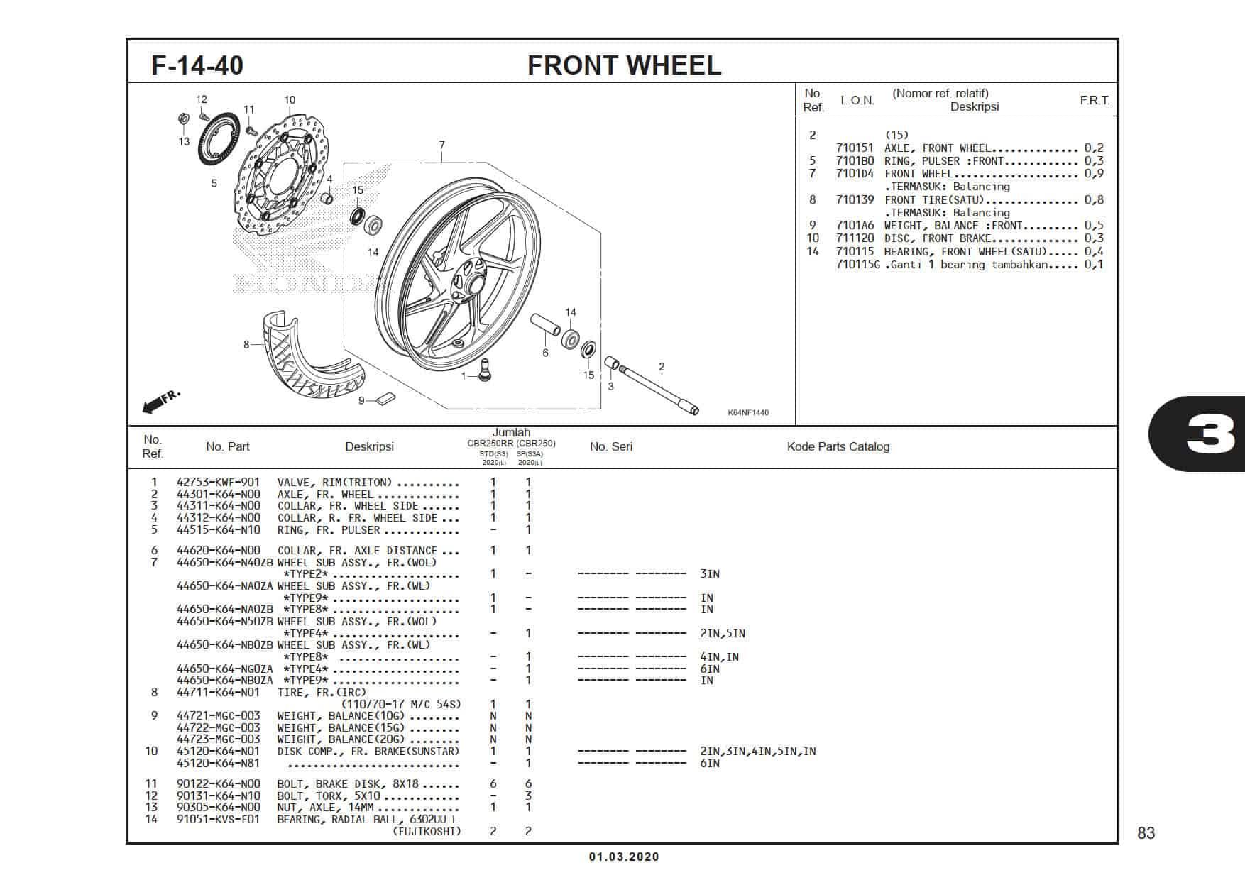 F-14-40 Front Wheel