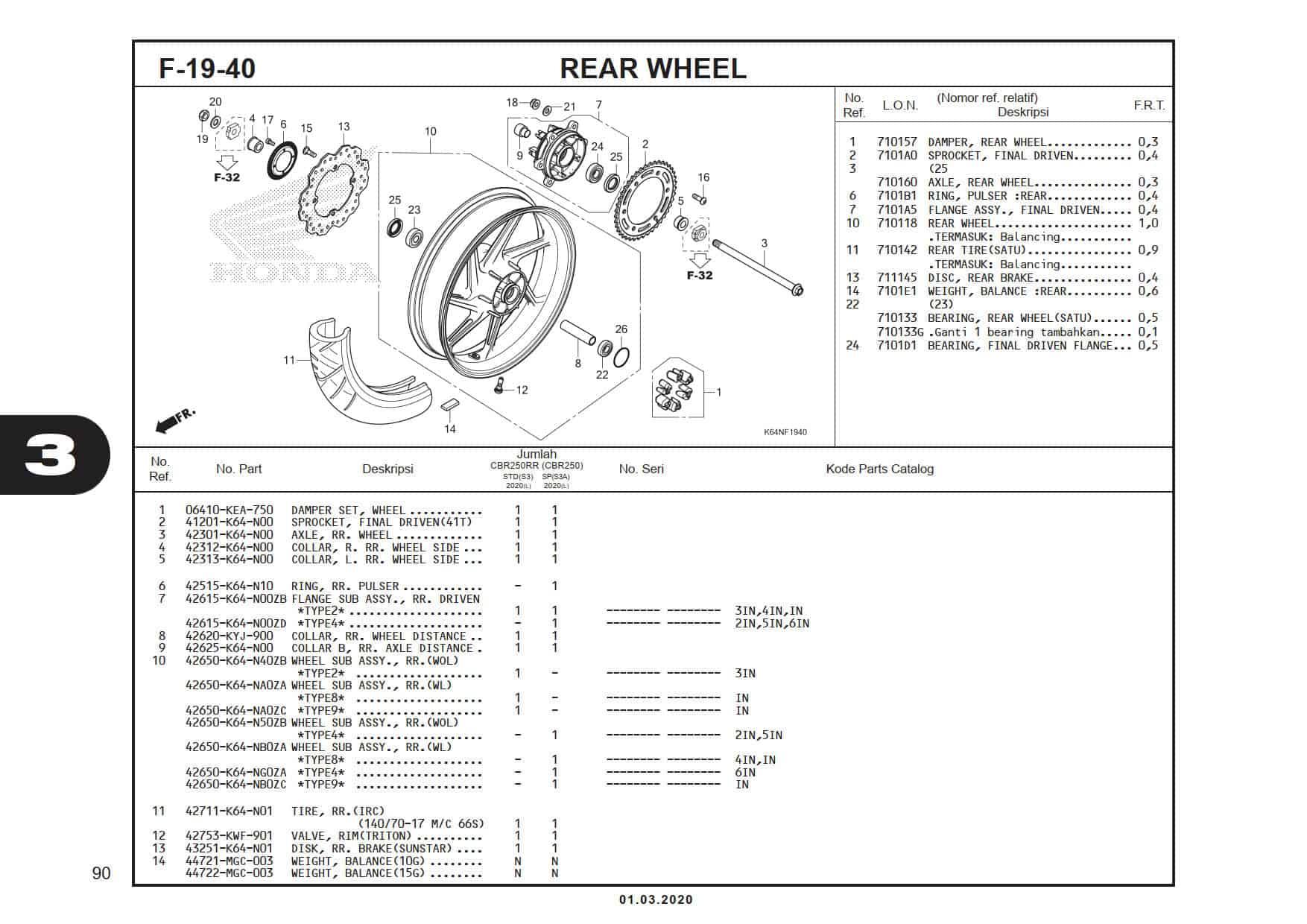 F-19-40 Rear Wheel