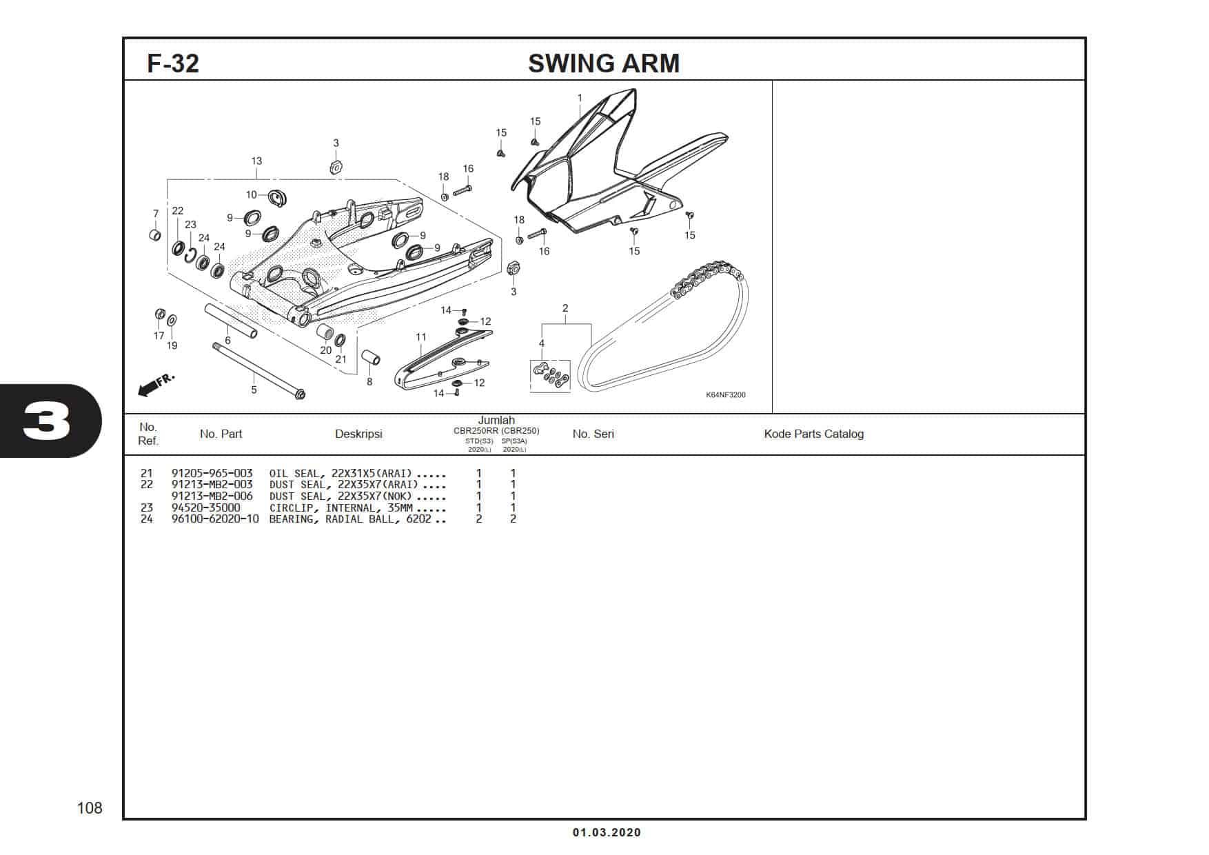 F-32 Swing Arm