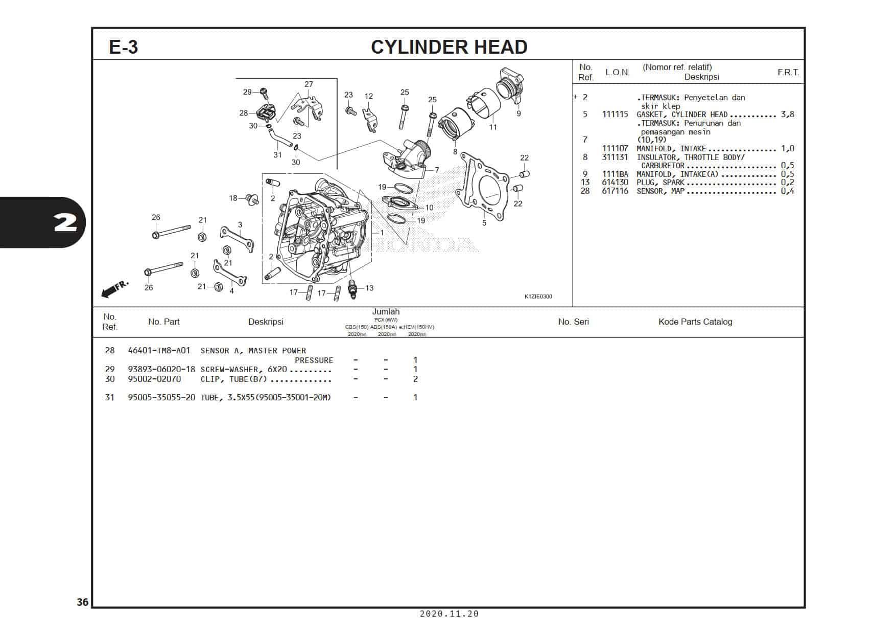 E-3 Cylinder Head