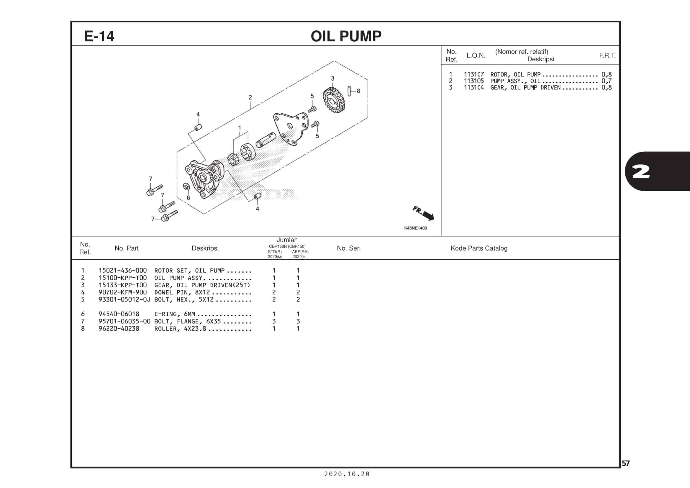 E-14 Oil Pump