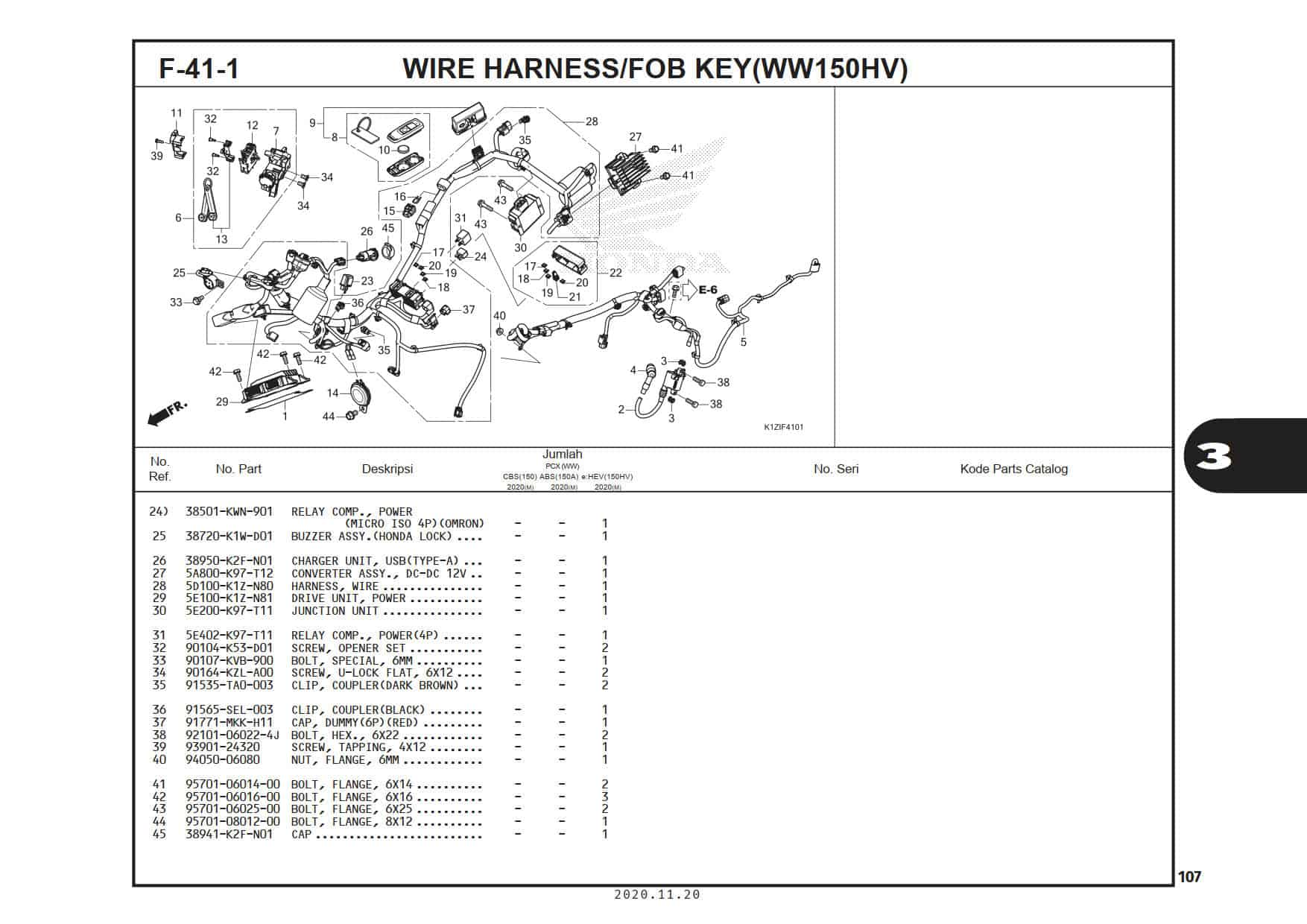 F-41-1 Wire Harness/FOB KEY (WW150HV)