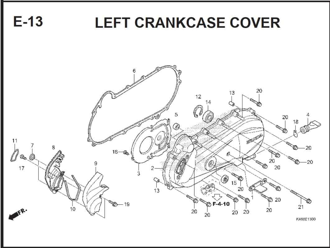 E-13 Left CrankCase Cover