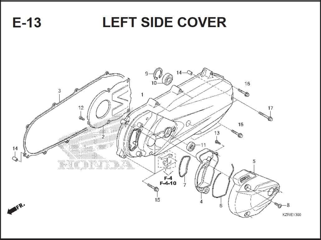 E-13 Left Side Cover