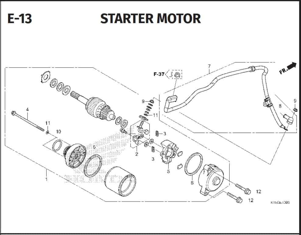 E-13 Starter Motor