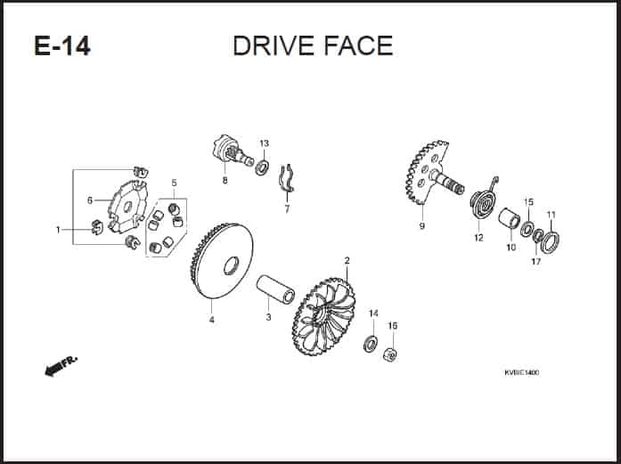E-14 Drive Face