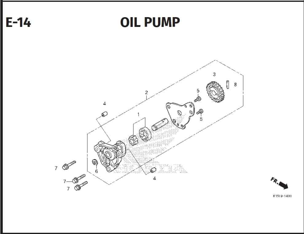 E-14 Oil Pump – Katalog Honda New CB150R StreetFire K15P