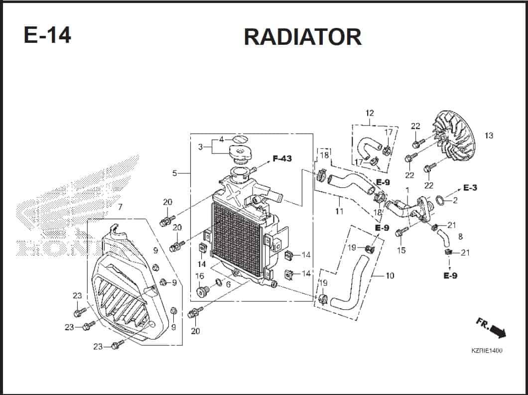 E-14 Radiator