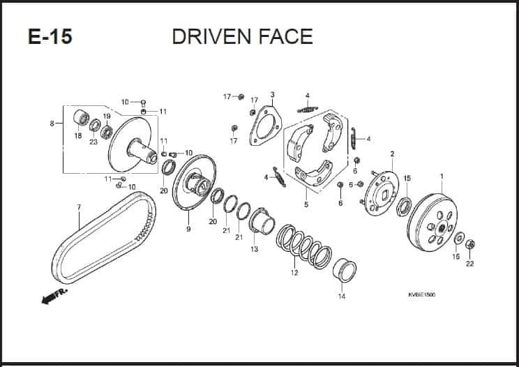 E-15 Drive Face