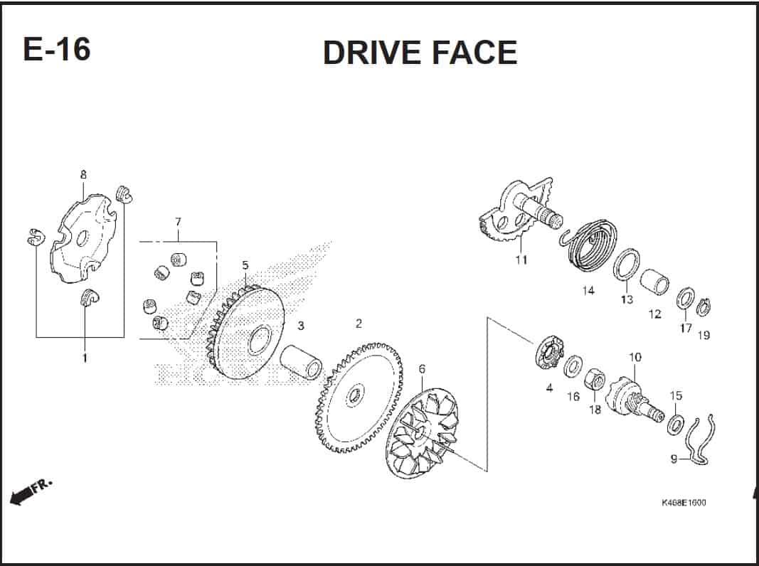 E-16 Drive Face – Katalog Honda Vario 110 FI