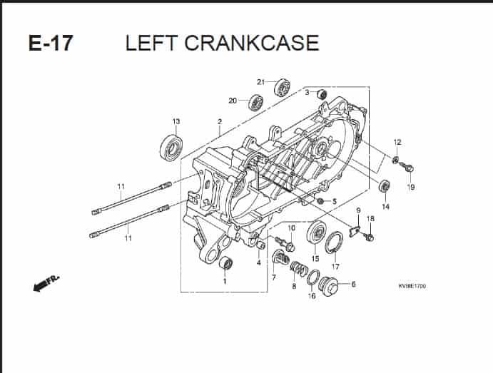 E-17 Left CrankCase