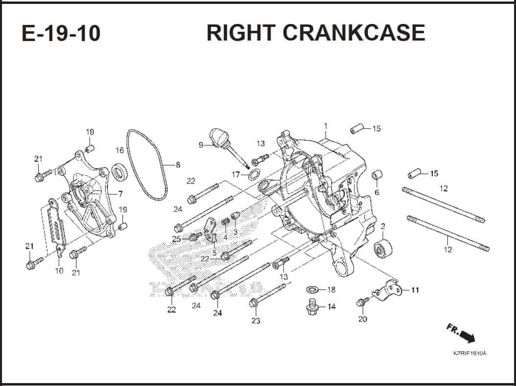 E-19-10 Right CrankCase