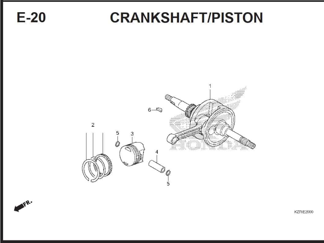 E-20 CrankShaft Piston