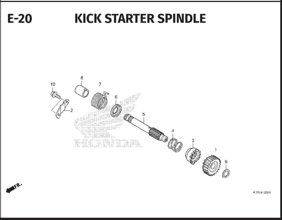 E-20 Kick Starter Spindle