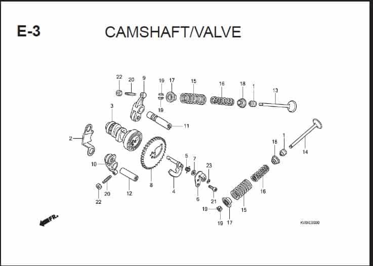 E-3 Camshaft Valve
