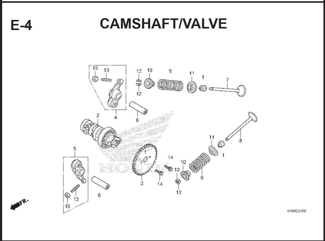 E-4 CamShaft Valve