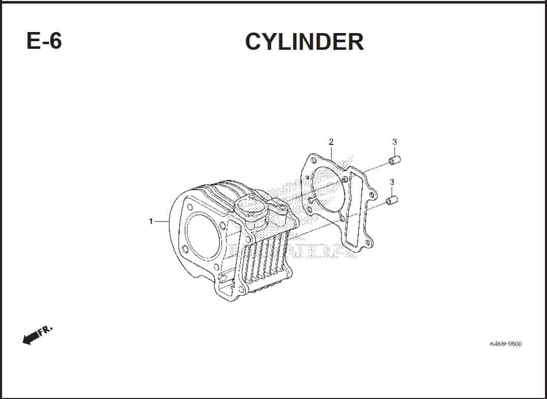 E-6 Cylinder – Katalog Honda Vario 110 FI