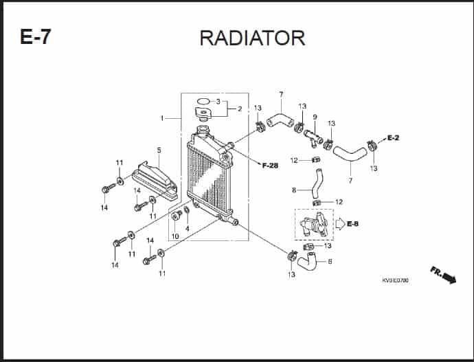 E-7 Radiator