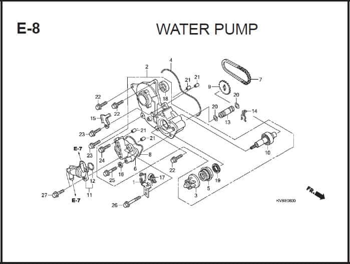 E-8 Water Pump