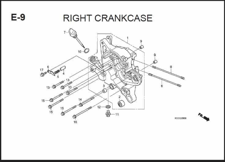 E-9 Right Crankcase